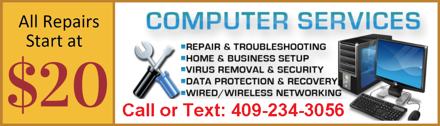 $20 Same Day Computer Repair Galveston Texas City